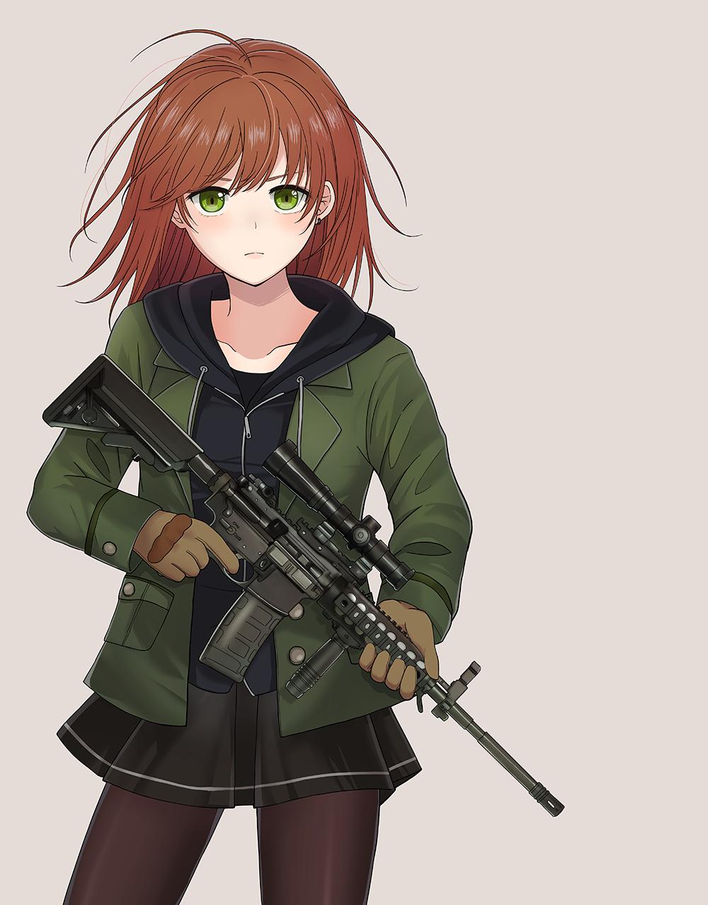 銃と女の子