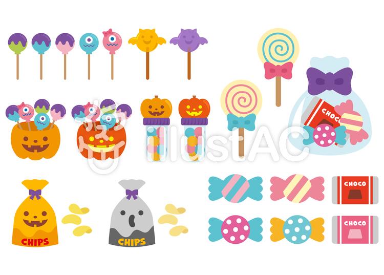 ポップなデザインのお菓子イラスト