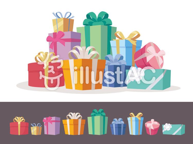 色々な形のプレゼントボックス