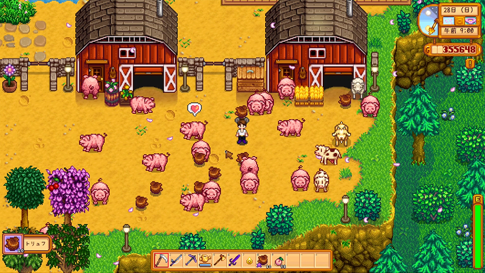 Stardew Valley 農場の様子