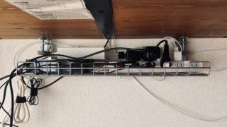サンワサプライのケーブル配線トレー 正面
